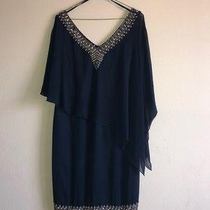 Dresses & Skirts - JKara Plus Size Asymmetrical Capelet Dress